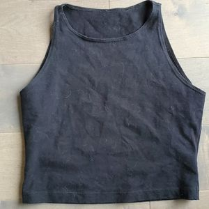 Black American apparel crop top high neck